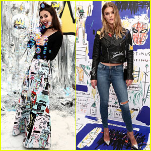 Victoria Justice & Nina Agdal Blow Bubbles at Alice + Olivia Launch Party!