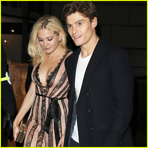 Newly Engaged Pixie Lott & Oliver Cheshire Celebrate Their Engagement in London