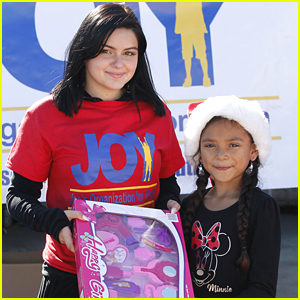 Ariel Winter Gives Back For Holidays at Joy Toy Drive