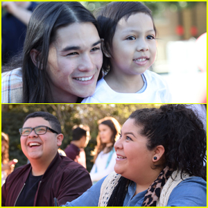 EXCLUSIVE: Booboo Stewart, Raini & Rico Rodriguez Stop By Camp Ronald McDonald Carnival