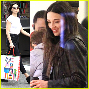 Crystal Reed Picks Up Last Minute Christmas Gifts at The Grove