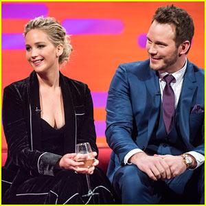 Jennifer Lawrence Still Can't Snag a Spot in Chris Pratt's Selfies!
