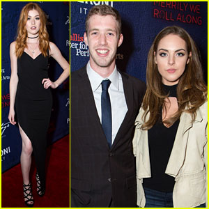 Katherine McNamara Supports a Broadway Pal at 'Merrily' Opening!