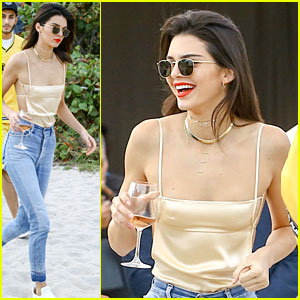 Kendall Jenner Has Fun in The Sun in Miami