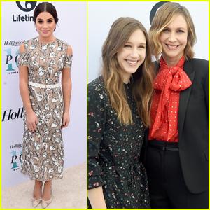 Lea Michele & Taissa Farmiga Support Ryan Murphy at THR's Women in Entertainment Breakfast