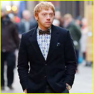 Rupert Grint Looks Dapper For 'Snatch' Filming