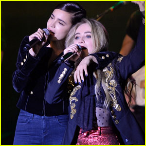 VIDEO: Sofia Carson Joins Pal Sabrina Carpenter On Stage For 'Wild Side' Duet!