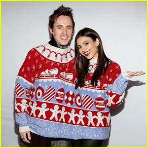 Victoria Justice & Boyfriend Reeve Carney Took the Cutest Photo Booth Pics at Just Jared's Holiday Party!