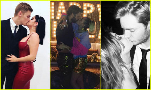 These Celeb Couples Kissed at Midnight To Ring in 2017 Together