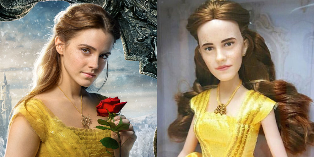 Emma Watson S Belle Doll Looks More Realistic Thanks To This Artist Beauty And The Beast Emma Watson Just Jared Jr