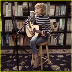 Grace VanderWaal Covers Ed Sheeran's 'The A Team' With a Guitar From Shawn Mendes!