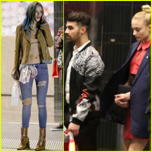 Joe Jonas & Sophie Turner Have a Night Out at a Birthday Celebration!