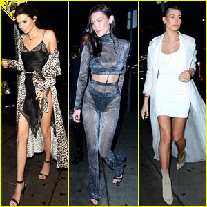 Kendall Jenner Rings in 2017 with Bella Hadid & Hailey Baldwin By Her Side!