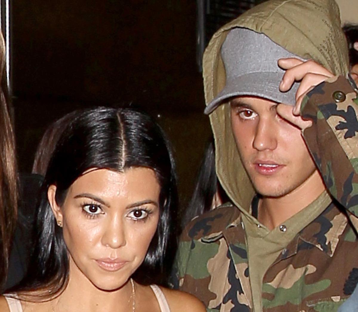 Kourtney Kardashian And Justin Bieber