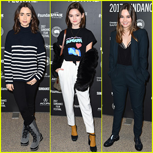 Lily Collins, Ciara Bravo, & Liana Liberato Bundle Up at Snowy Sundance for 'To the Bone' Premiere!