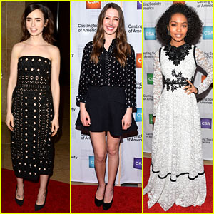 Lily Collins, Taissa Farmiga, & Yara Shahidi Slay in Black & White