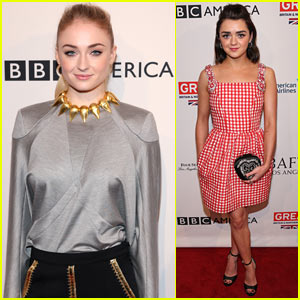 Sophie Turner & Maisie Williams Bring 'Game of Thrones' to BAFTA Tea Party