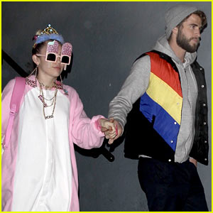 Miley Cyrus Rocks a Onesie for Liam Hemsworth's Birthday Party