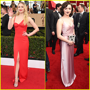 Sophie Turner & Maisie Williams Get Their Glam On for SAG Awards 2017