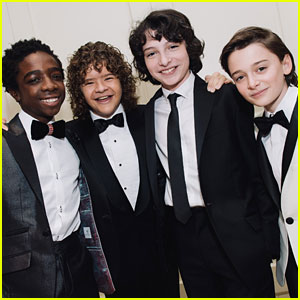 Stranger Things Cast Gets Ready for Golden Globes: Behind-the-Scenes Pics!