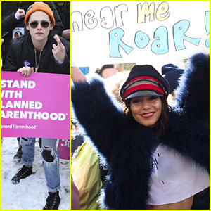 Vanessa Hudgens & Kristen Stewart Stand Up For Women's Rights