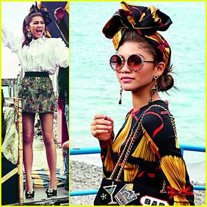 b7537630b Zendaya Totally Slays in Dolce & Gabbana's Spring/Summer 2017 Campaign