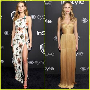 Halston Sage & Zoey Deutch Are Glam Gals at Golden Globes 2017 Party!