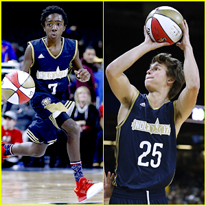 Stranger Things' Caleb McLaughlin Did The Splits at the NBA All-Star Game!