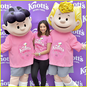Brenda Song Screams For A Cure at Knott's Berry Farm Breast Cancer Event