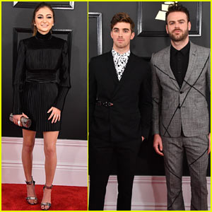 Daya & the Chainsmokers Arrive in Style at the Grammys 2017