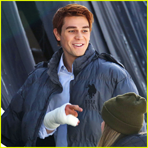 KJ Apa Sports Bandaged Hand While Filming 'Riverdale's Season Finale