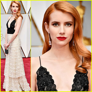 Emma Roberts Makes an Enviornmental Statement With Her Gown at Oscars 2017