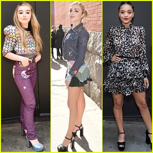 Sabrina Carpenter, Peyton List, & Kiersey Clemons Wrap Up NYFW with Marc Jacobs!