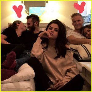 Selena Gomez Being the Third Wheel at a Super Bowl Party Is All Of Us