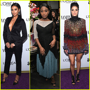 Shay Mitchell Slays at Vanity Fair's Young Hollywood Party With Fifth Harmony