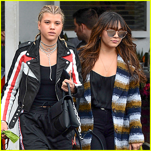 Sofia Richie & Stella Hudgens Bring Lewis Hamilton's Dog To Lunch With Them