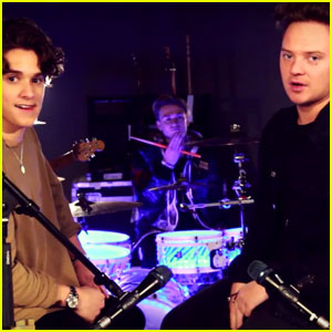 The Vamps Have a 'Shape Of You' Sing-Off With Conor Maynard - Watch Now!