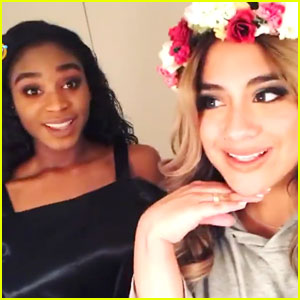 EXCLUSIVE: Fifth Harmony's Ally Brooke & Normani Kordei Sing 'The Little Mermaid' Songs Backstage in Tokyo!