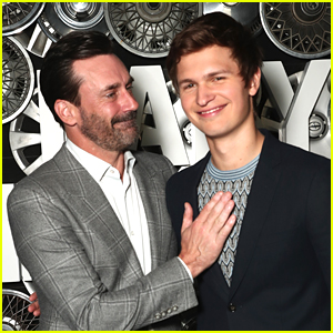 Ansel Elgort Hangs Out with Co-Star Jon Hamm at CinemaCon 2017