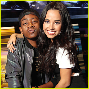 'Power Rangers' Becky G & RJ Cyler Meet Fans at Signing Event