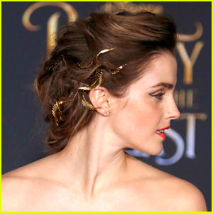 Emma watsons hair at beauty the beast la premiere made a emma watsons hair at beauty the beast la premiere made a magical moment come true urmus Image collections