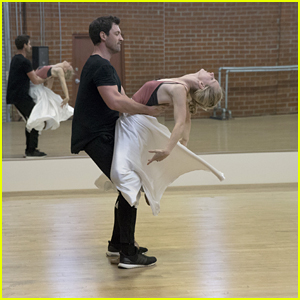Heather Morris & Maksim Chmerkovskiy Look Flawless During Their DWTS Rehearsals