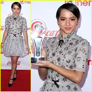 Isabela Moner Stuns in Shimmery & Starry Reem Acra Dress at CinemaCon