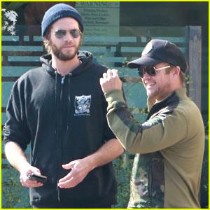 Liam Hemsworth Grabs Breakfast with Older Bro Luke in Malibu