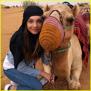 Maddie Ziegler Takes Camel Ride in Dubai