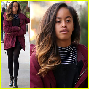 Malia Obama Is Back at the Office After the Weekend!