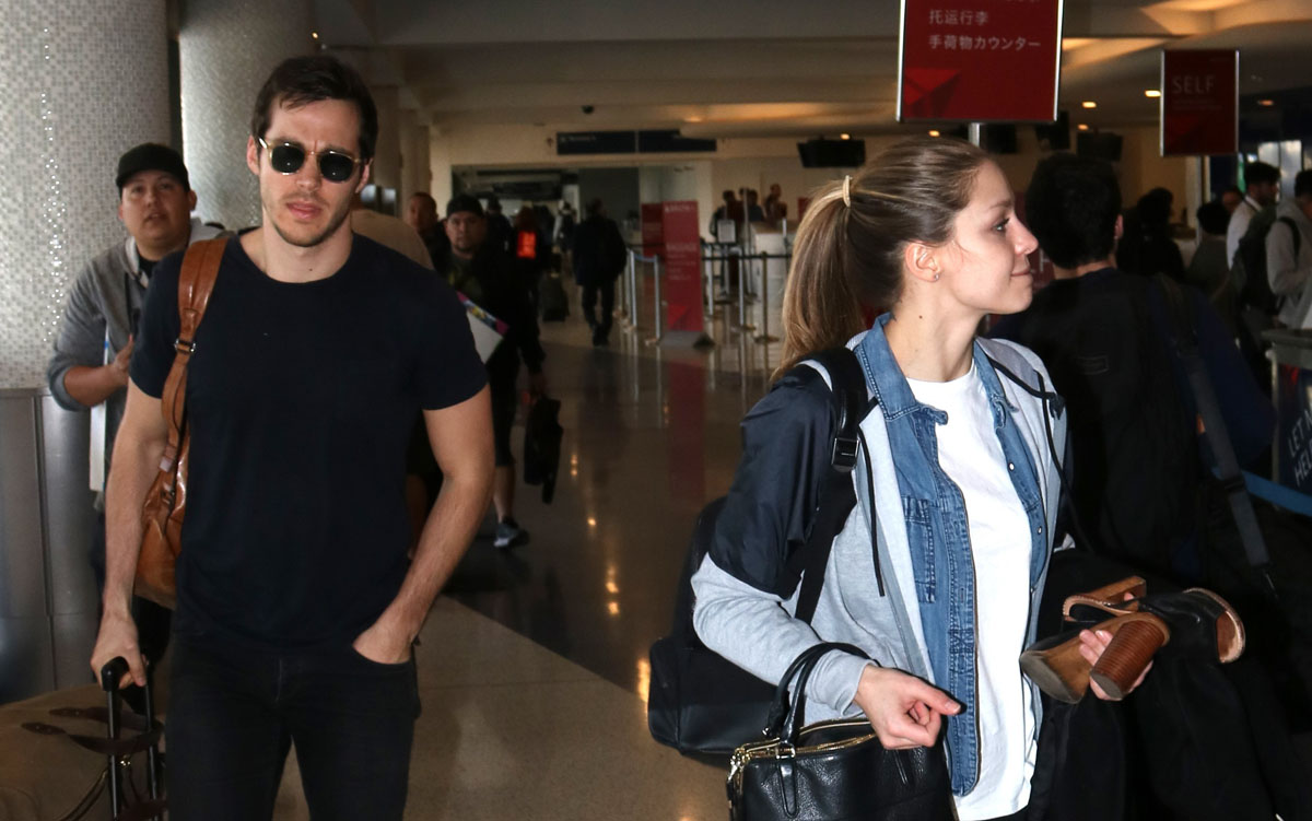 'Supergirl' Stars Chris Wood & Melissa Benoist Fly Out Of