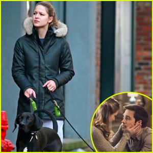 Melissa Benoist Walks Her 'Supergirl' Co-Star Chris Wood's Dog in Vancouver!