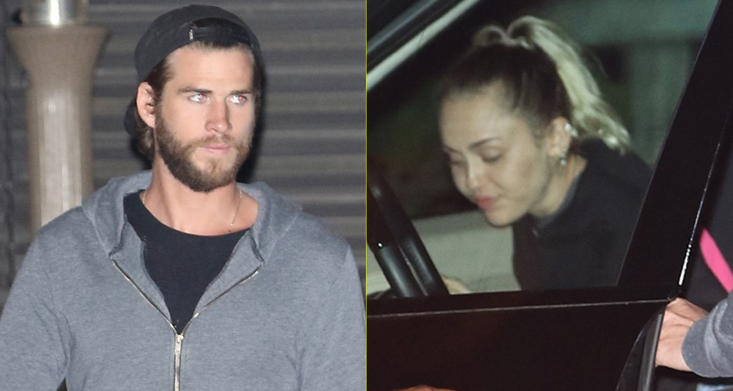 Miley Cyrus & Liam Hemsworth Couple Up in Malibu | Liam ...
