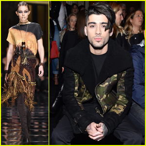 Zayn Malik & Nick Jonas Attend Star-Studded Balmain Show With Gigi Hadid & Kendall Jenner